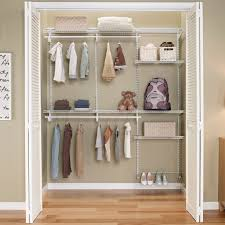 ClosetMaid ShelfTrack 5ft to 8ft Closet Organizer Kit, White - Free  Shipping Today - Overstock.com - 17657187