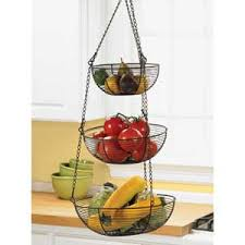 Bronze Woven Wire 3 Tier Hanging Basket Live Small Dream