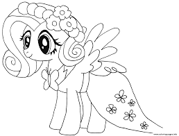 Small Picture Cute Fluttershy My Little Pony Coloring Pages Printable