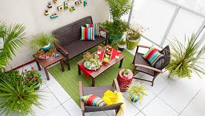 small decks patios small. Furnished Balcony With Outdoor Accessories Small Decks Patios