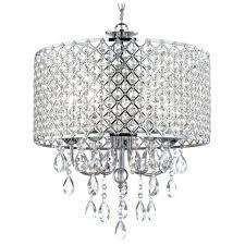 light creative ornate zoom crystal chandelier pendant light chrome with drum image medium bulb