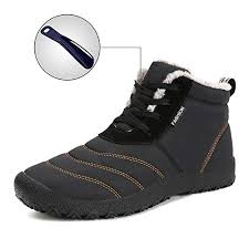 Mens Womens Snow Boots Winter Waterproof Shoes Lace Up Anti-Slip Ankle Bootie Outdoor Amazon.com | WateLves