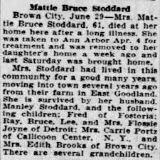 Mattie Bruce Stoddard - Newspapers.com