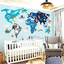 map decal nursery wall decal wall decal nursery world map decal like this item baby boy