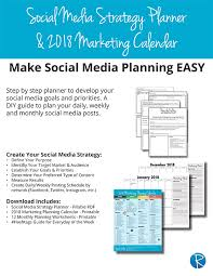 monthly planning guide 2018 social media strategy planner rebecca vandenberg web services