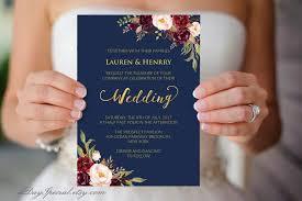 Vistaprint Wedding Seating Chart Navy Wedding Template Burgundy Boho Chic Floral Printable