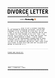 Divorce Letter Template Divorce Templates Oninstall 1