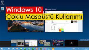 Windows 10 Çoklu Masaüstü Kullanımı - YouTube