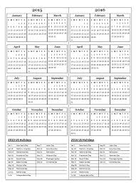 two year calender 2015 two year calendar free printable templates