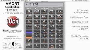 Financial Calculator Amort Amortization Schedule 10bii Mac Os X