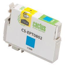 <b>Картридж Cactus CS</b>-<b>EPT0802</b>, голубой, для <b>струйного</b> принтера ...