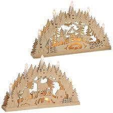 Schwibbögen 3d Lichterbögen Wald Oder Dorf Led Weihnachtsdeko 1 Stk 35 Cm Matches21