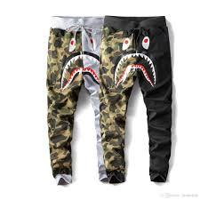 Designer Pants Mens Designer Pants A Bathing Aape Shark Cotton Ape Designer Trousers Joggers Winter Coats Street Clothing Vetements