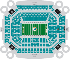 Miami Dolphins Hard Rock Stadium Seating Chart Hard Rock Stadium Interactive Seating Chart