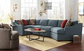 Four Piece b Customizable b Sectional Sofa with RAF Cuddler by