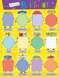 Birthday Chart Ideas For Kindergarten 3 Happy Birthday World