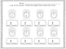 Telling Time Worksheets For First Grade Free Worksheets Library ...