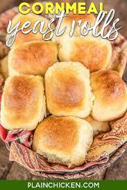 cornmeal yeast rolls easy delicious