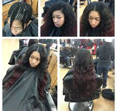 Braid Pattern For Sew In Weave With Side Part Inspiration Able To Part It Down The Side And The Middle S E W I N S