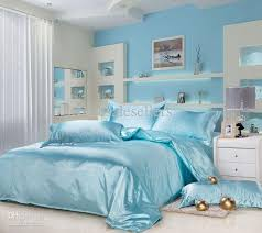 new silk queen bedding quilt duvet cover sets light blue bedroom comforters retro bedding from wholeers 79 06 dhgate com