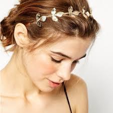 Ozdoba Do Vlasov čelenka So Zlatými Lístkami