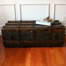 travel trunk coffee table outstanding ideas for painting a steamer trunk coffee table cole papers