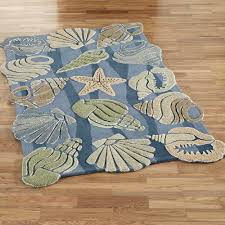 Thick Bathroom Rugs Complete The Theme In Your Cottage By The Sea With The Seashell