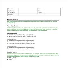 Project Meeting Minutes Template Inspiration 44 Project Meeting Minutes Templates To Download Sample Templates