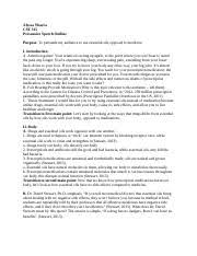 informal essay outline alyssa ybarra cst informative speech most popular documents from northern arizona university