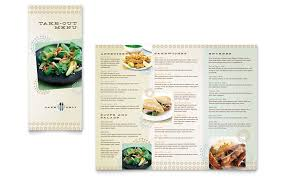 Take Out Menu Template Cafe Deli Take Out Brochure Template Word Publisher