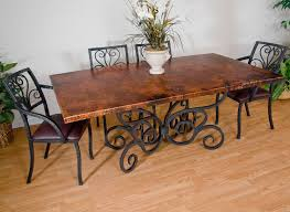 wood and wrought iron furniture. Timeless Wrought Iron - Alexander Dining Table Wood And Wrought Iron Furniture R