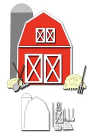 Frantic Stamper Precision Die Barn Card Maker