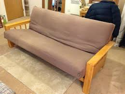 3 seater solid wood sofa bed vienna by futon company very good condition