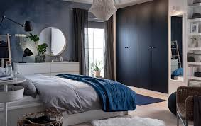 Ikea black bedroom furniture Light Blue Give Your Bedroom Calming Cool Blue Feeling With New Ikea Pax HamnÅs Black Blue Ikea Bedroom Furniture Ideas Ikea