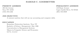 formatting   how to change left margin in a res based resume   tex        management  may \ concentration in management systems\ minors in computer science and economics\ g p a        \end resume  \end document
