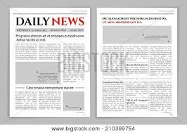 Creating A Newspaper Template Newspaper Template Vector Photo Free Trial Bigstock