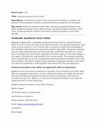 Cover Letter Teaching Assistant Sample No Experience Uk Examples