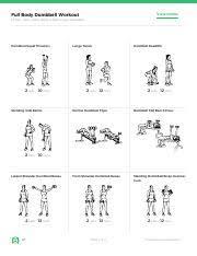 Full Body Dumbbell Workout Pdf Full Body Dumbbell Workout