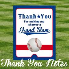 Baseball Baby Shower Thank You Notes Etsy