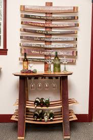 wine barrel wine rack furniture. Simple Rack Wine Barrel Table Rack With Glass Holder Reclaimed Barrels Regard To Ideas  18 Furniture