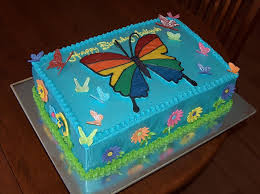 Rainbow Butterfly Birthday Cake Cakecentralcom