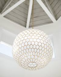 capiz honeycomb chandelier via serena lily gallery 19 of