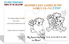 Printable mother's day cards to color in. 20 Free Printable Mother S Day Cards In Pdf