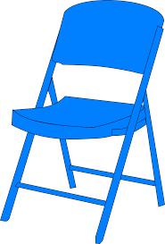 chair clipart. blue chair fold up clip art clipart