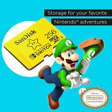 Thẻ Nhớ SanDisk 256GB MicroSDXC UHS-I Memory Card cho Nintendo Switch -  SDSQXAO-256G-GNCZN - LuxStore.