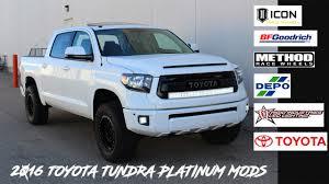 2016 Toyota Tundra Mods, TRD PRO Platinum. - YouTube