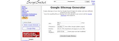 scriptsocket sitemap generator