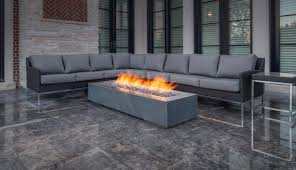 robata 72 concrete linear fire pit ash traditional home