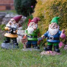 three gnomes keep unwanted guests away red5 co uk