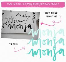how to hand letter how to create a hand lettered blog header no scanner